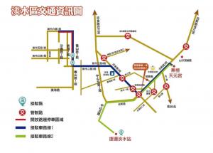 淡水櫻花季-交通-管制-接駁-停車-捷運-路線資訊圖