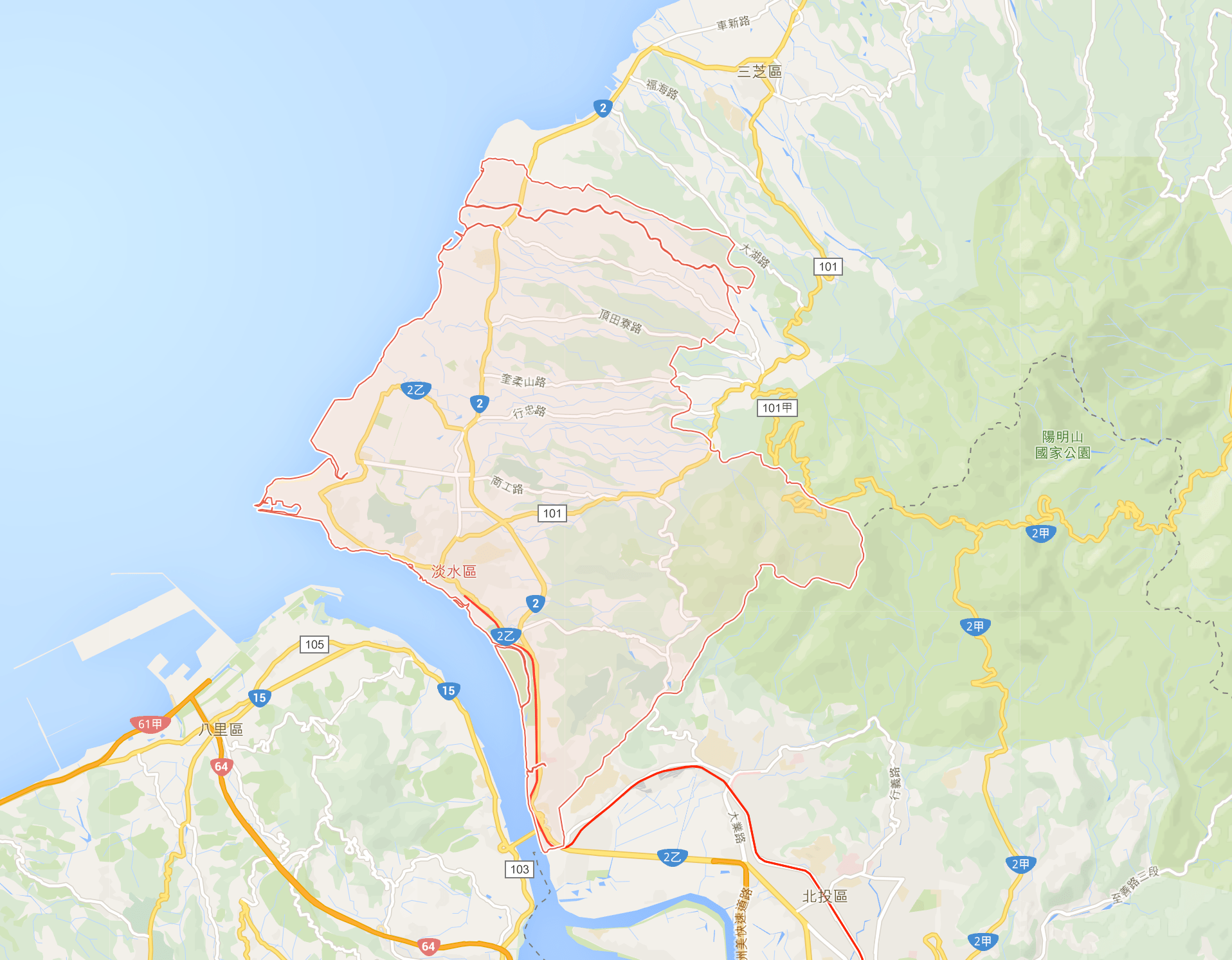 Tamsui_Map_淡水區_的圖
