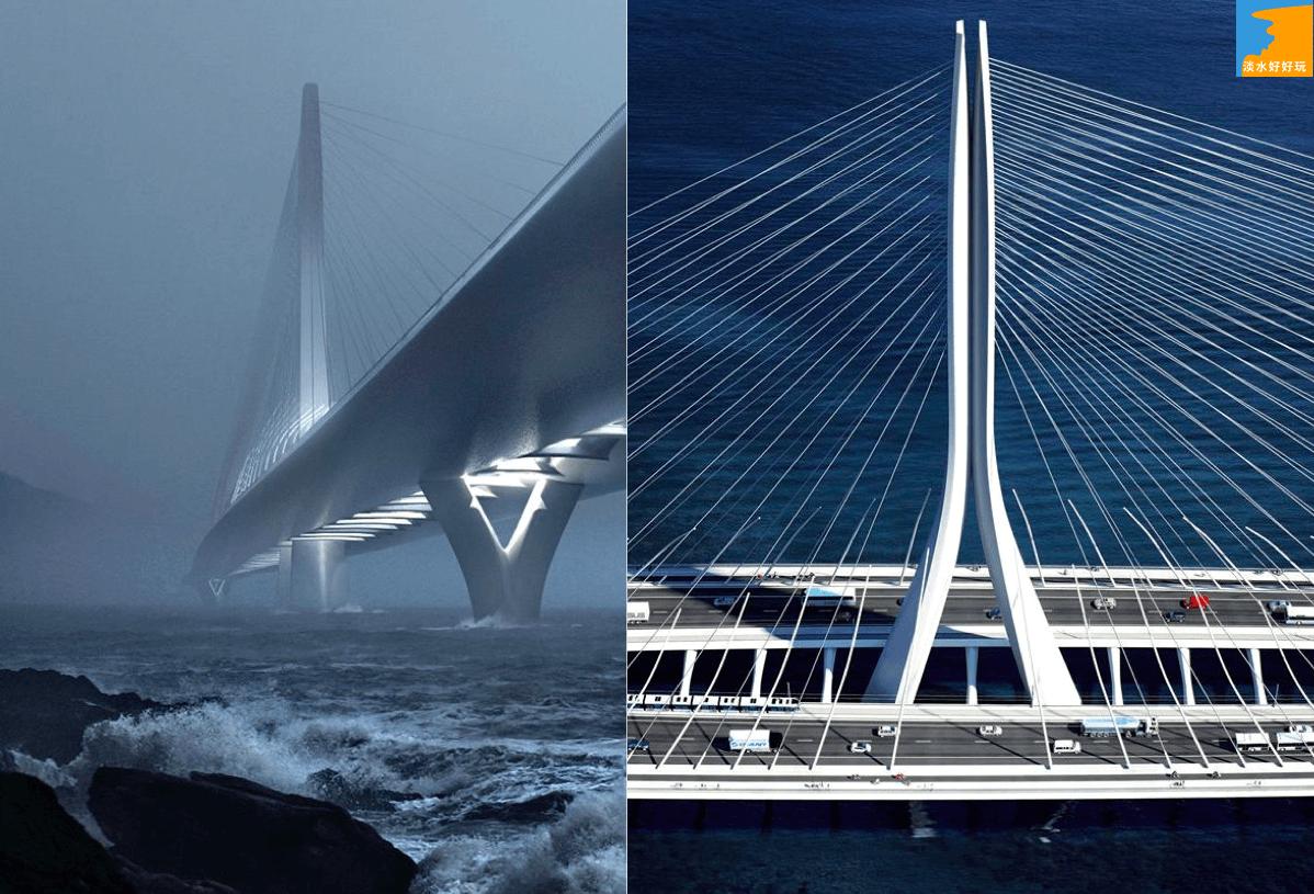 淡江大橋-淡水-台灣海峽-夕陽-景觀