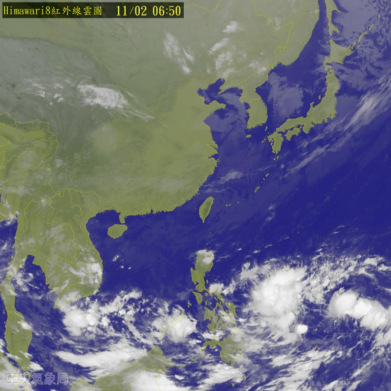 北北基宜大雨特報 淡水蘇澳秋季低溫18度 1102 Taiwan Weather 臺灣 天氣 衛星雲圖 1